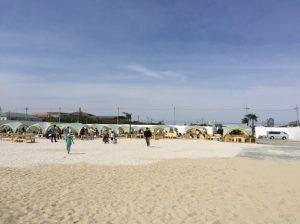 東京都立川市に砂浜が出現!タチヒビーチ体験記(2017.5月版)